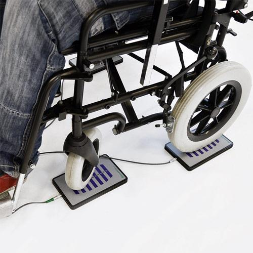 Four ForcePlates in Use with Wheelchair